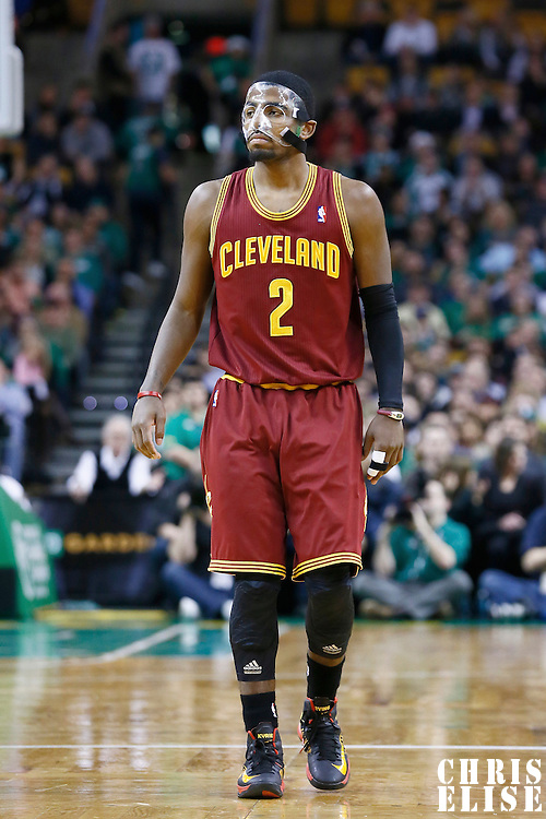 19 December 2012: Cleveland Cavaliers point guard Kyrie Irving (2) is seen during the Boston Celtics 103-91 victory over the Cleveland Cavaliers at the TD Garden, Boston, Massachusetts, USA.