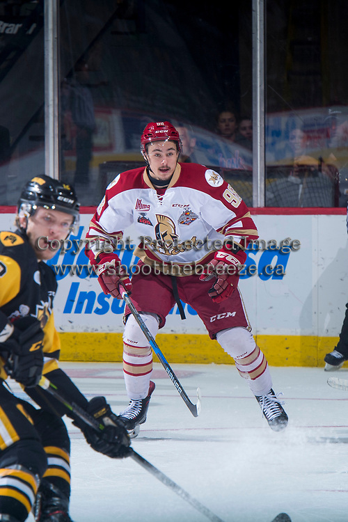 REGINA, SK - MAY 22: German Rubtsov #98 of Acadie-Bathurst Titan looks for the pass against the Hamilton Bulldogs at the Brandt Centre on May 22, 2018 in Regina, Canada. (Photo by Marissa Baecker/CHL Images)