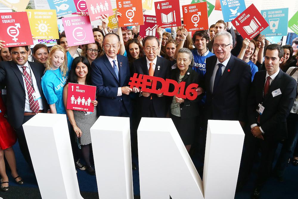 20160615 - Brussels , Belgium - 2016 June 15th - European Development Days - #EDD16 - Ban Ki-Moon - Secretary General, United Nations - Jim Yong Kim - President, The World Bank Group - Yoo (Ban) Soon-taek - Neven Mimica - EU Commissioner for International Cooperation and Development© European Union