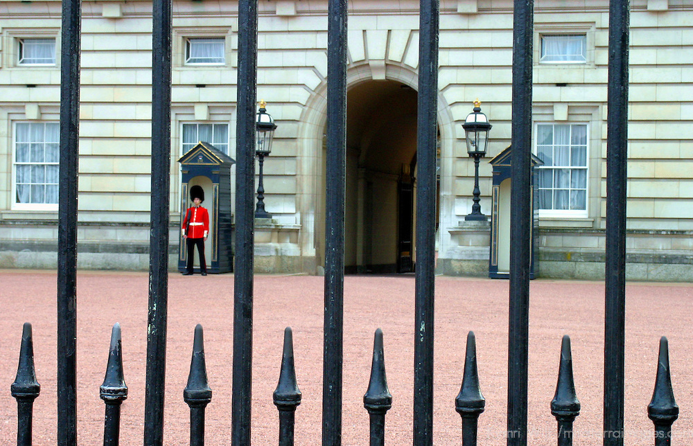 United Kingdom, Great Britain; England; London. Buckingham Palace Guard.
