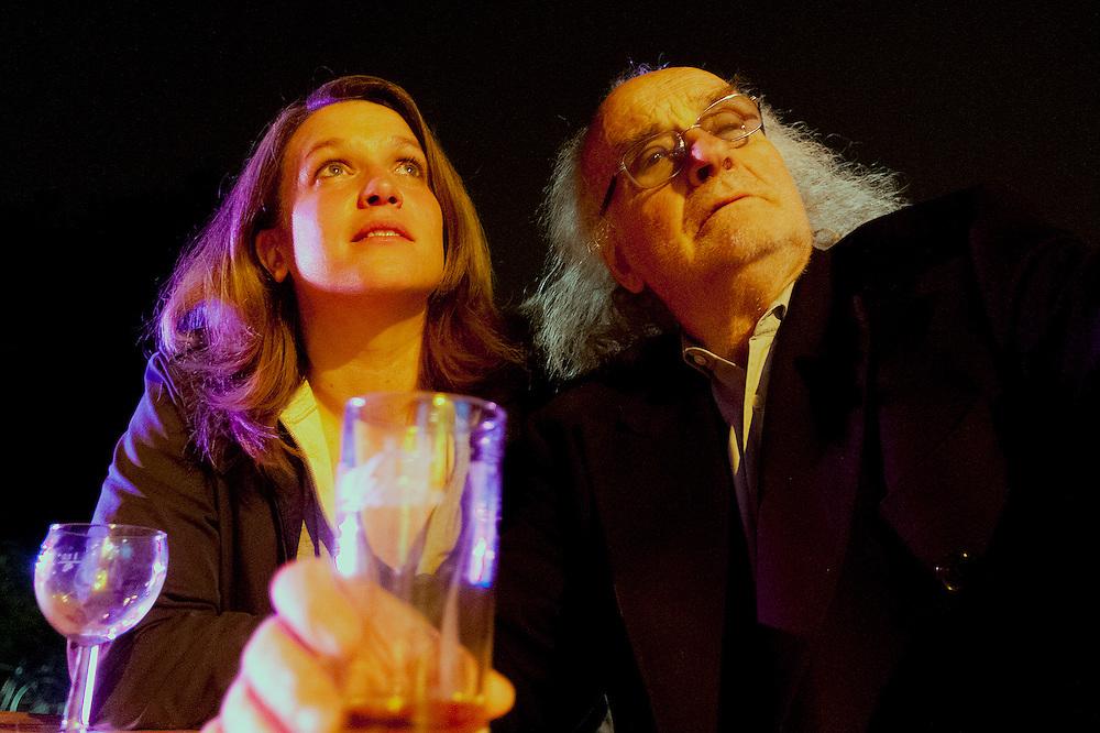 DEU,NRW,Nordrhein-Westfalen,M&uuml;lheim an der Ruhr, die Schauspielerin Gabriella Weber und der Regisseur Roberto Ciulli vom Theater M&uuml;lheim bei den &quot;Wei&szlig;en N&auml;chten&quot;  2013    |  englisch   | <br /> <br /> <br /> [