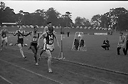 17/07/1967<br /> 07/17/1967<br /> 17 July 1967<br /> International Athletics at Santry Stadium, Dublin. The finish of the Men's 880 yes International race, with Keith Colburn, (176) USA winning from N.Carroll, Civil Service Harriers, Ireland; H. Khosi (85) South Africa and V. Jacklin (151) South Africa.