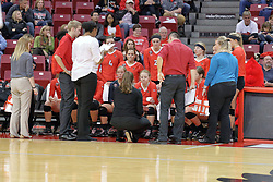 17 October 2015:   during an NCAA women's volleyball match between the Southern Illinois Salukis and the Illinois State Redbirds at Redbird Arena in Normal IL (Photo by Alan Look)