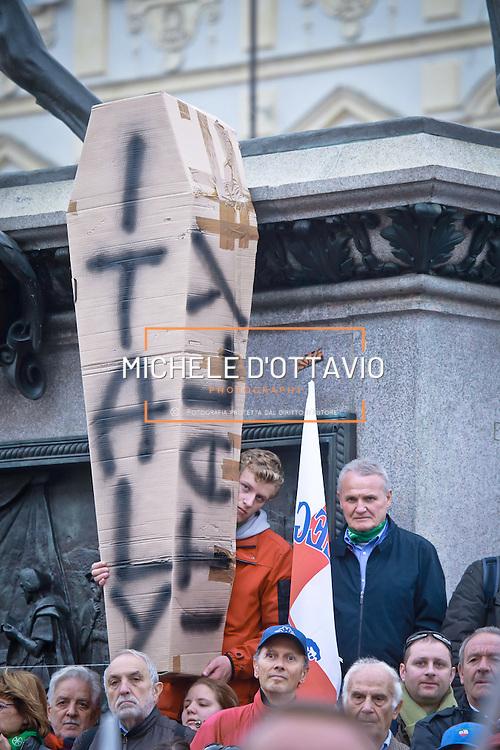 Lega Nord manifestazione contro l'immigrazione.<br /> Torino, 12 ottobre 2013.