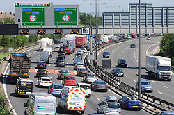 &copy; Licensed to London News Pictures. 26/05/2017<br /> ANTI-CLOCKWISE TRAFFIC TOWARDS DARTFORD CROSSING M25.<br /> Hot weather and heavy May bank holiday traffic chaos on the M25 in Dartford,Kent as the last May bank holiday getaway 2017 starts.<br /> Photo credit :Grant Falvey/LNP