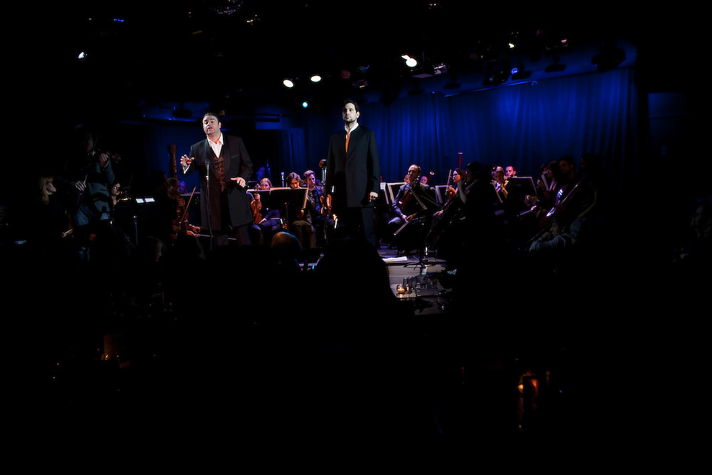 Tenor Joseph Calleja performing with bass-baritone Luca Pisaroni, at Le Poisson Rouge on October 24, 2011.
