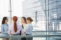 Businesswomen conversing in office