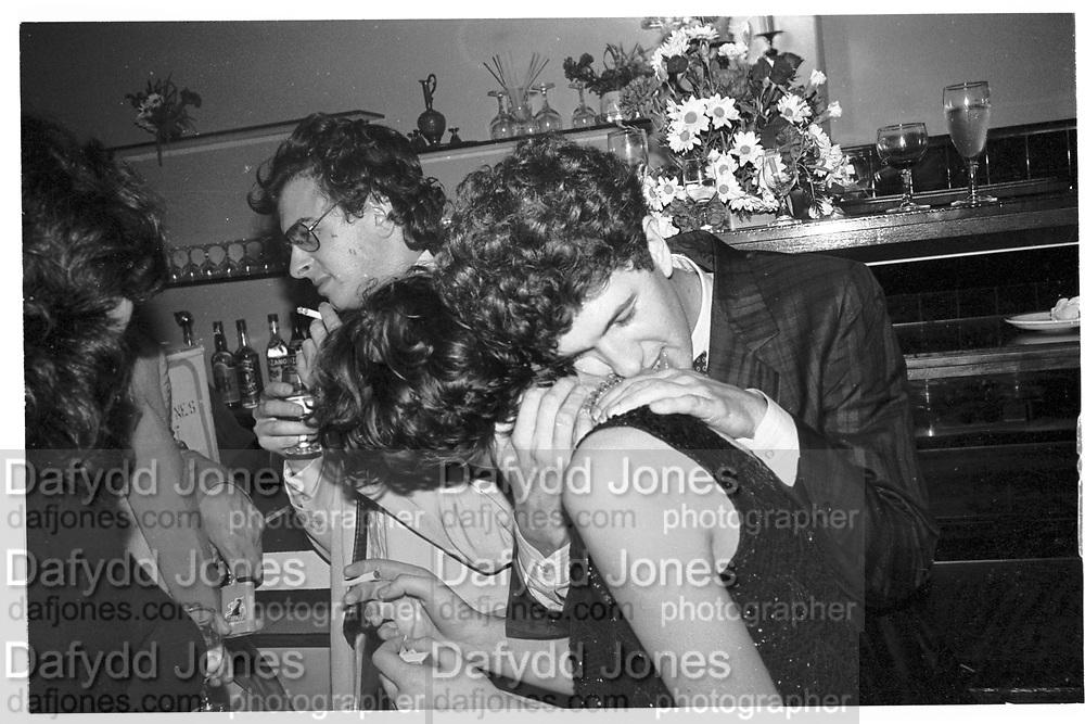 MARIO TESTINO, Polish club Ball. Polish Club. London.  11 November 1982. <br /> SUPPLIED FOR ONE-TIME USE ONLY> DO NOT ARCHIVE. © Copyright Photograph by Dafydd Jones 248 Clapham Rd.  London SW90PZ Tel 020 7820 0771 www.dafjones.com