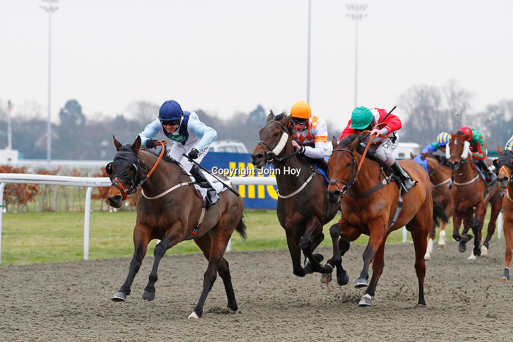 Sylas Ings and Ian Mongan winning the 2.50 race