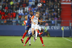 September 26, 2018 - Caen, France - Nicolas Cozza (Montpellier) vs Claudio Beauvue  (Credit Image: © Panoramic via ZUMA Press)