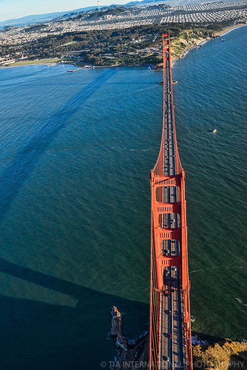 Golden Gate Bridge, Looking Due South to San Francisco
