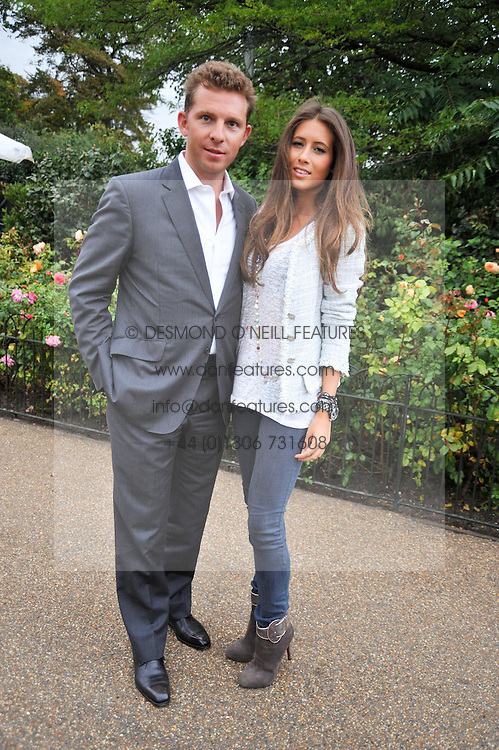 NICK CANDY and YAEL TORN-HILBER at the unveiling of 'Isis' a sculpture by Simon Gudgeon hosted by the Royal Parks Foundation and the Halcyon Gallery by the banks of The Serpentine, Hyde Park, London on 7th September 2009.