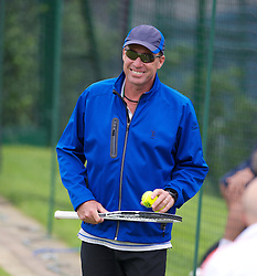 LONDON, ENGLAND - Friday, June 29, 2012: Ivan Lendl coach of Andy Murray during practice on day five of the Wimbledon Lawn Tennis Championships at the All England Lawn Tennis and Croquet Club. (Pic by David Rawcliffe/Propaganda)