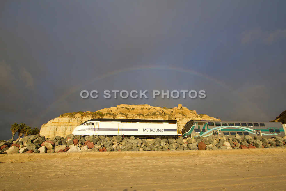 Metrolink Traveling Through Calafia State Beach in San Clemente