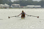 Eton, GREAT BRITAIN,  BLR W1X, Ekaterina KARSTEN, moves away from the start, at the, 2006 World Rowing Championships, 20/08/2006.  Photo  Patrick White, © Intersport Images,  Tel +44 [0] 7973 819 551,  email images@intersport-images.com , Rowing Courses, Dorney Lake, Eton. ENGLAND