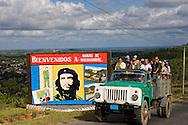 Image of Ernesto Che Guevara in Minas de Matahambre, Pinar del Rio, Cuba.