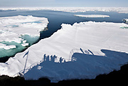 "The expedition vessel ""POlar Star"" passes through pack ice at 80-degrees north off Spitsbergen, Svalbard"