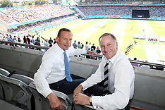 Auckland-Trans Tasman Prime Ministers watch World Cup cricket clash