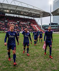 28-01-2018 NED: FC Utrecht - AFC Ajax, Utrecht<br /> Frenkie de Jong #21 of Ajax, Justin Kluivert #45 of Ajax, Hakim Ziyech #10 of Ajax