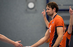 28-08-2016 NED: Nederland - Slowakije, Nieuwegein<br /> Het Nederlands team heeft de oefencampagne tegen Slowakije met een derde overwinning op rij afgesloten. In een uitverkocht Sportcomplex Merwestein won Nederland met 3-0 van Slowakije / Thomas Koelewijn #15