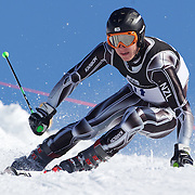 Benjamin Griffin, New Zealand, in action during the Men's Giant Slalom competition at Coronet Peak, New Zealand during the Winter Games. Queenstown, New Zealand, 22nd August 2011. Photo Tim Clayton