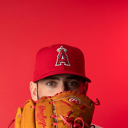 Los Angeles Angeles pitcher Matt Harvey during photo day at Tempe Diablo Stadium on Tuesday, February 19, 2019 in Tempe, Arizona. (Photo by Keith Birmingham, Pasadena Star-News/SCNG)