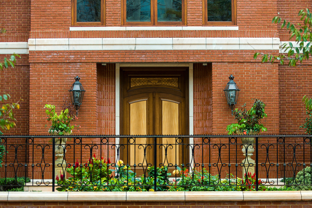 Private home entrance facade, Philadelphia, Pennsylvania.