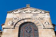 1/11/16 - ISSOIRE - PUY DE DOME - FRANCE - Signes zodiacales sur la Basilique SAINT AUSTREMOINE - Photo Jerome CHABANNE