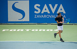 Constant Lestienne (FRA) in action during Final Singles match at Day 9 of ATP Challenger Zavarovalnica Sava Slovenia Open 2018, on August 11, 2018 in Sports centre, Portoroz/Portorose, Slovenia. Photo by Vid Ponikvar / Sportida