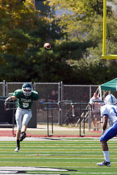 17 September 2011: Alex Garvey kicks off after a Titan touchdown during an NCAA Division 3 football game between the Aurora Spartans and the Illinois Wesleyan Titans on Wilder Field inside Tucci Stadium in.Bloomington Illinois.