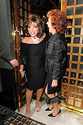 05.JULY.2011. LONDON<br /> <br /> JOAN COLLINS AND CILLA BLACK LEAVING THE IVY RESTAURANT IN CENTRAL LONDON.<br /> <br /> BYLINE: EDBIMAGEARCHIVE.COM<br /> <br /> *THIS IMAGE IS STRICTLY FOR UK NEWSPAPERS AND MAGAZINES ONLY*<br /> *FOR WORLD WIDE SALES AND WEB USE PLEASE CONTACT EDBIMAGEARCHIVE - 0208 954 5968*