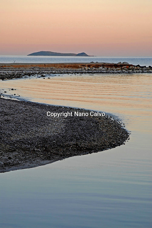 Natural by Nano Calvo.Sunset at river of Santa Eulalia del Rio, Ibiza, Spain