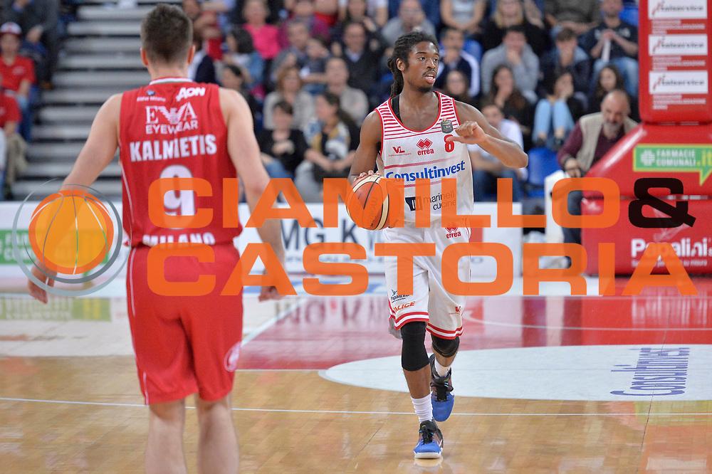 Marcus Thornton<br /> Consultinvest Victoria Libertas Pesaro - EA7 Emporio Armani Olimpia MIlano<br /> Lega Basket Serie A 2016/2017<br /> Pesaro, 30/04/2017<br /> Foto M.Ceretti / Ciamillo - Castoria