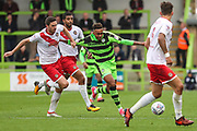 Forest Green Rovers Keanu Marsh-Brown(7) runs forward during the EFL Sky Bet League 2 match between Forest Green Rovers and Newport County at the New Lawn, Forest Green, United Kingdom on 14 October 2017. Photo by Shane Healey.