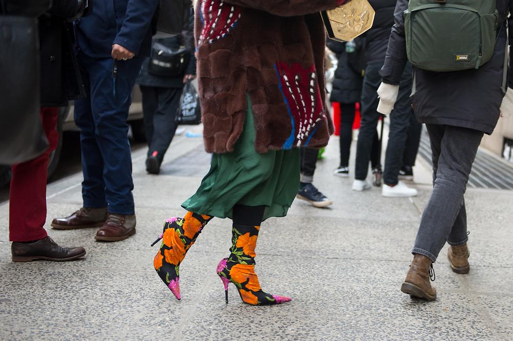 Balenciaga Boots, Outside Kate Spade FW2018