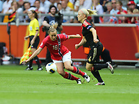 Fotball , EM , Norge - Tyskland 28.juli 2013 , kvinner ,  Sverige , Stockholm , Solna , europamesterskap, finale<br /> Kristine Hegland<br /> Foto: Ole Marius Fjalsett