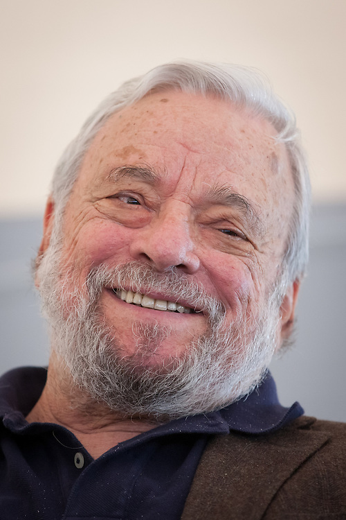 Broadway composer and lyricist Stephen Sondheim smiles during a ceremony to award him the Edward MacDowell Medal for lifetime achievement, at the MacDowell Colony, in Peterborough, NH on Sunday, August 11, 2013. Sondheim has won more Tony Awards than any other composer. His hit musicals include &quot;Follies,&quot; ''A Little Night Music&quot; and &quot;Sweeney Todd.&quot; <br /> (Matthew Cavanaugh Photo)