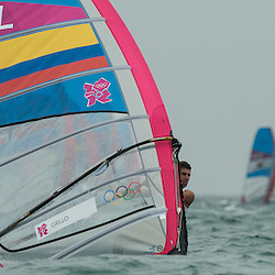 2012 Olympic Games London / Weymouth<br /> RSX man racing day 1 <br /> LaserCOLQuintero Andrey