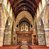 St. David&rsquo;s Cathedral Nave in Hobart, Australia<br />