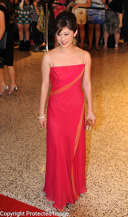 Kristi Yamaguchi arrives for the White House Correspondents Dinner in Washington, DC