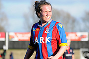 Sarah Jones in action during the FA Women's Cup match between Crystal Palace LFC and Reading Women at Bromley, England on 8 February 2015. Photo by Michael Hulf.