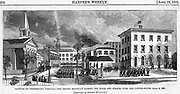 Civil War: Petersburg, Virginia.  Union (Second Michigan) forces occupy the city taken from the Confederacy.   Harper's Weekly April 22, 1865