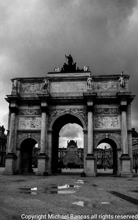 """Carrousel Arc de Triomphe<br /> Arc de Triomphe du Carrousel<br /> Paris in front of the Louvre<br /> """"After the Rain"""""""