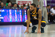 FORT WORTH, TX - JANUARY 4: Jaysean Paige #5 of the West Virginia Mountaineers looks on against the TCU Horned Frogs on January 4, 2016 at Ed and Ray Schollmaier Arena in Fort Worth, Texas.  (Photo by Cooper Neill/Getty Images) *** Local Caption *** Jaysean Paige