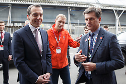 22.03.2017, Eisstadion Liebenau, Graz, AUT, Special Olympics 2017, World Wintergames, im Bild Special Olympics Vorstand Timothy Shriver und Bundeskanzler Christian Kern // during the Special Olympics World Wintergames 2017 in the icestadium, Graz, Austria on 2017/03/22, EXPA Pictures © 2017, PhotoCredit: EXPA/ Erwin Scheriau