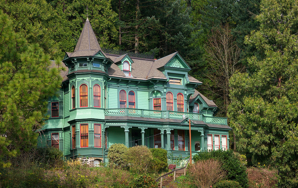 Shelton-McMurphey-Johnson House, a historic home originally built in 1888, now open as a museum; Skinner Butte Park, Eugene, Oregon.