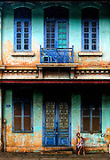 A French colonial building in Takhek, Laos.