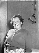 Ballinasloe Tinker Housing Story - Special for Sunday Express<br /> Miss Maura Croffy, Member of Urban Council<br /> 28/01/1957