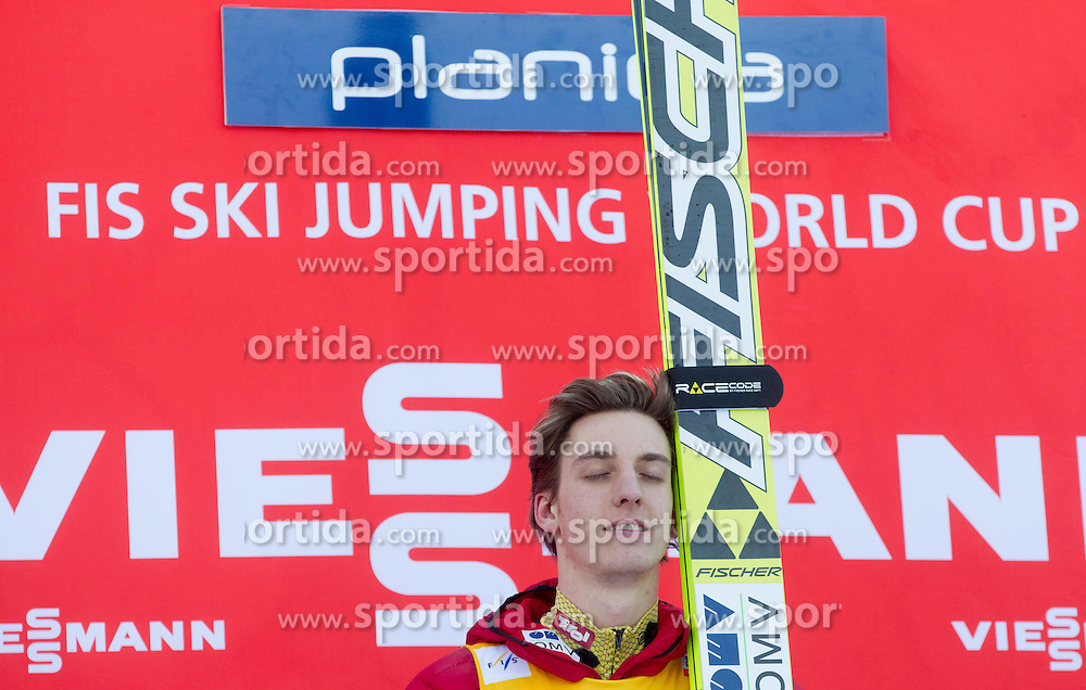 Winner SCHLIERENZAUER Gregor of Austria during Trophy ceremony after the Flying Hill Individual Competition at 2nd day of FIS Ski Jumping World Cup Finals Planica 2013, on March 22, 2012, in Planica, Slovenia. (Photo by Vid Ponikvar / Sportida.com)
