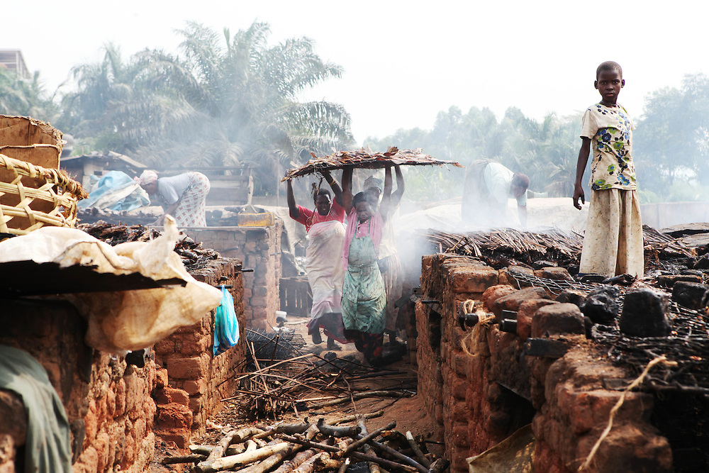 Locals smoke fish heads and fish skin on giant kilns in Ggaba, a small town in southern Uganda that almost entirely subsists on the fishing industry. The locals have contributed to the dangerous overfishing of the lake despite strict regulations from Tanzania, Uganda, and Kenya. Fishermen continue to keep fish that are far below the required minimum weight and employ dymanite and poison.